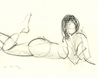 Gesture study 290 Original drawing  10.5 x 7.5 inches
