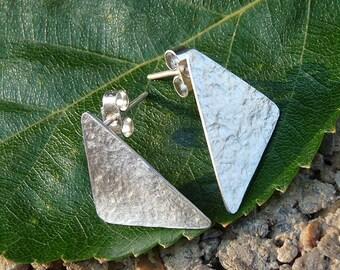 Minimalist sterling silver textured studs. Sterling silver post earrings. Sterling silver earrings. Minimalist jewelry. Earrings
