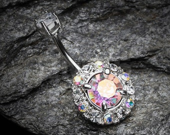 Aurora Sparkle Belly Button Ring