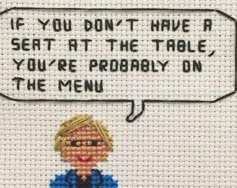 Elizabeth Warren Cross Stitch Pattern