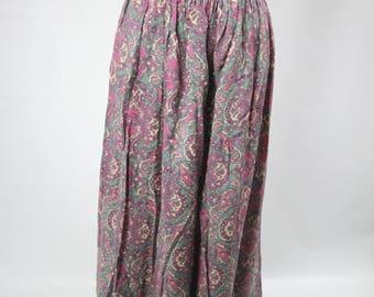Paisley Vintage Maxi Skirt
