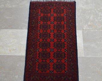 30% DISCOUNT 1'8 x 3'1 Feet, Gorgeous vintage afghan tribal wool khal muhammadi small rug >>> REDUCED PRICE