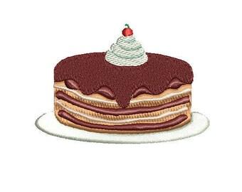 Chocolate Cream Cake-Machine Embroidery Design