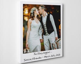 Large custom canvas, canvas print, custom canvas, wedding photo on canvas, photo with quote, wedding date canvas, large photo portrait art