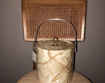 Vintage Faux Marble Ice Bucket