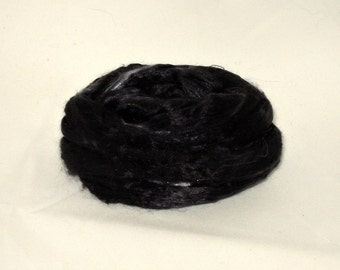 Mulberry Silk-- Tuxedo 1/2 oz add in for batts and art roving