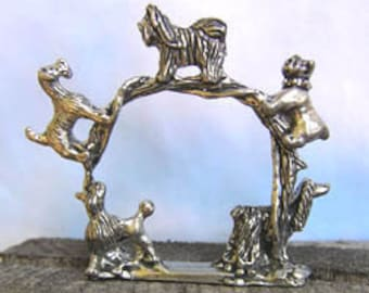Dog Napkin Rings Set of 4