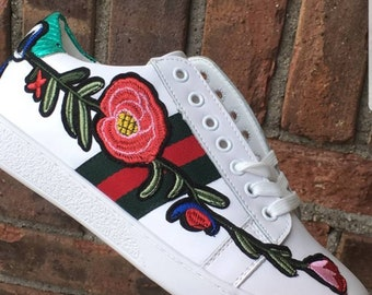 Custom Gucci- Flower Embroidered low-top Sneaker
