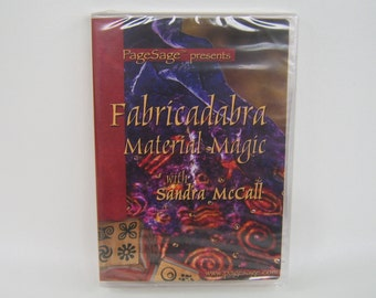 Craft DVD Fabricadabra Material Magic Sandra McCall Fabric Stamping Unopened