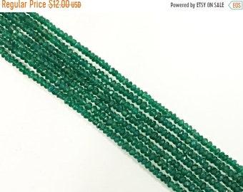 25% OFF 4mm Emerald Green Jade Faceted Rondelle Gemstone Bead strand 15 Inch Full Strand, 133 Beads, Emerald Green - SJA017
