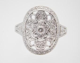 0.25 Carat T.W. Ladies Round Cut Diamond Cluster 14K White Gold