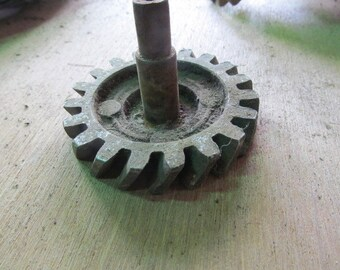 Salvaged Metal Slanted Gear Industrial Metal Rusty Gears Recycled Metal Art Sculprure Supplies