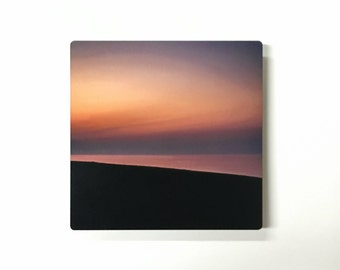 Watercolor Sky - Abstracted Sunset Photograph on Metal