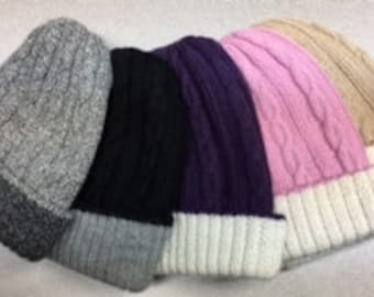 Reversible Cable Hats