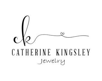 Premade Logo Design, Custom Logo, Calligraphy Logo, Modern Logo, Custom Business Card Branding, Wedding Signs PL62
