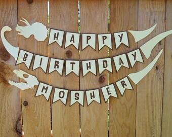 Dinosaur Birthday Banner, Dinosaur Birthday, Dinosaur Banner, Custom Banner, Kid, Party, Dinosaur Party, Custom Parties by PartyAtYourDoor