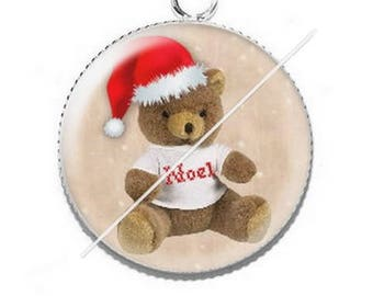 Pendant cabochon resin Merry Christmas happy holidays 29