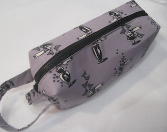Apothecary with surprise poison embroidery inside - Cosmetic Bag Makeup Bag LARGE