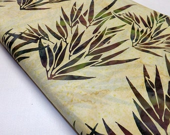 Batik Cotton Quilting Fabric F2044-2 Bamboo Leaves Sewing Fabric Hoffman Designer Fabric