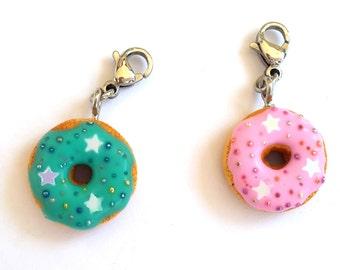 Polymer Clay Donut, Midori Charm, Planner Charm, Travelers Notebook Charm