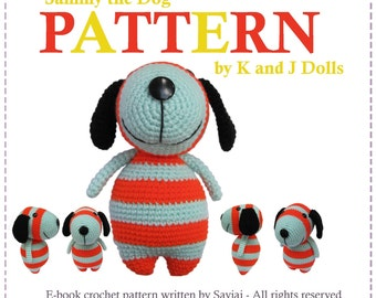 ENGLISH Instructions - Instant Download PDF Crochet Pattern Sammy the Dog