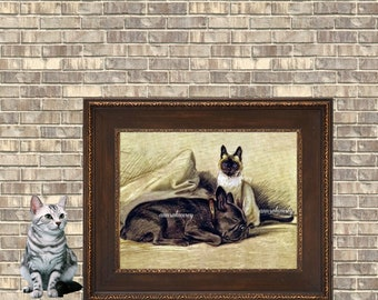 Childs Room Art, Family Room Art, Guest Room Art, Bedroom Art, Gift for Animal Lover #505  FREE SHIPPING