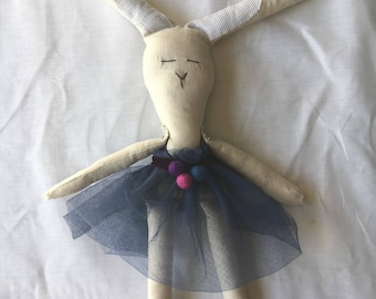 EASTER SALE! Lulu Katura handmade cloth bunny doll