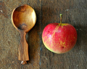 Coffee Scoop Hand Carved Spoon Hand Carved Wood Spoon Wabi Sabi Gifts for the Home Rustic Housewarming Gift Hand Carved Wooden Spoon