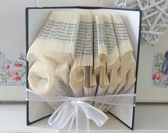 Faith Book Folding Pattern with tutorial. DIY. Make your own Gift. Please read Listing. PDF Files only.