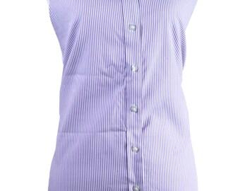 Purple Striped Apron