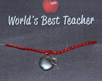 World's Best Teacher Wish Bracelet - Buy 3 Items, Get 1 Free