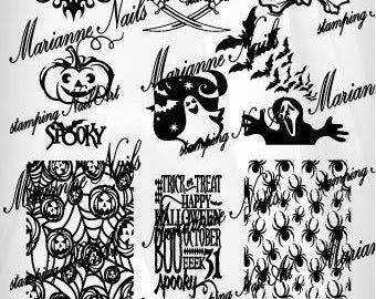 Nail art stamping plate Marianne Nails halloween 130
