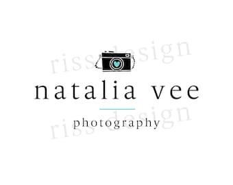 Premade Logo for Small Business - Premade Photography Business Logo / You choose colors / Camera logo for your photography business