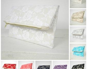 Lace clutches | Lace bridesmaid clutch | Bridesmaid lace purse | Bridesmaid Clutch Gift available in 10 colors!!!