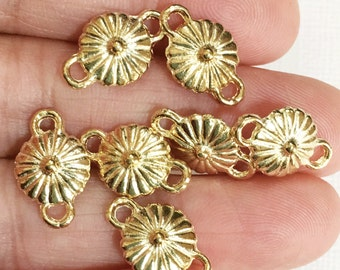 20 pcs of gold plated connector 16x10x5mm, gold flower connector, gold flower links