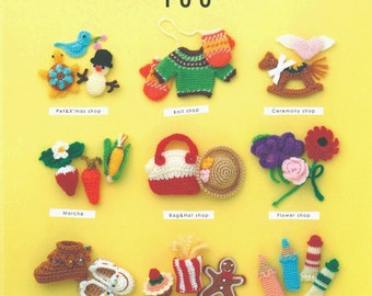 Applemints Series. Cute Shop Knitting in Crochet Miniature Accessories 100 - Japanese craft book