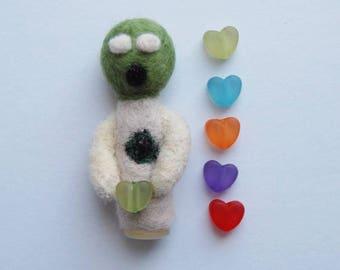 Custom Love Zombie Doll - Creepy Cute Art Doll - Geeky Romantic Gift - Walking Dead - Horror Lover - Anniversary Gift - Horror Wedding Decor