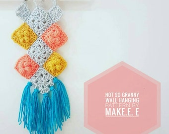 Not So Granny Wall Hanging Crochet PDF Pattern by Make.E