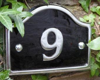 Chrome Bridge House Numbers
