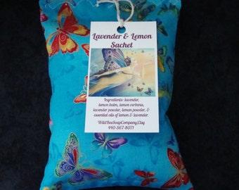 Lavender & Lemon Sachet, Sachet, Herbal Pillow, Pillow, Herbs, Lavender, Herbal Sachet, Scented Sachet, Herb Pillow,Valentine's Day Gift