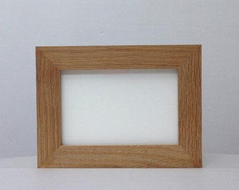 Wide Natural Oak Frame, A4 Size, with Gallery Acrylic