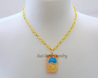 Yellow and Blue Chicks Necklace
