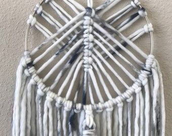 Stormy day macrame wall hanging