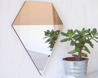 Bronze and Silver Geometric Modern Mirror, PRISM