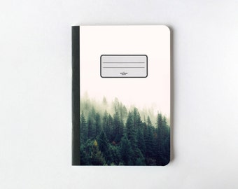 Green Pine Trees Notebook - Journal - Sketchbook - Blank pages - Lined pages