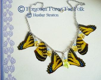 Sun Dancing Wings Necklace, Butterfly wings, Butterflies