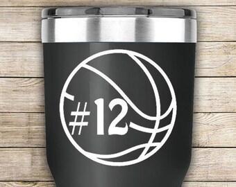 Basketball Gift Basketball Mom Decal Basketball Sticker Team Gifts Basketball Car Decal Basketball Laptop Decal Basketball  Mom Yeti Decal
