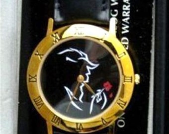 Beauty and the Beast Watch with Red Rose Silhouette Watch