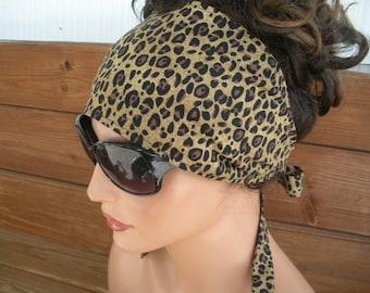 Womens Headband Fabric Headband Summer Fashion Accessories Women Headscarf Turban Headband Yoga Headband in with Cheetah print