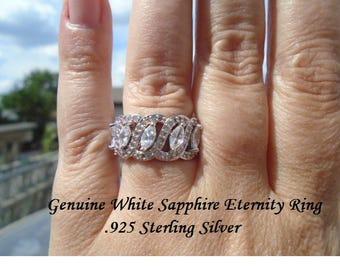 White Sapphire Eternity Ring